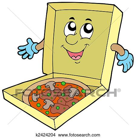 手绘图 - 卡通漫画, 烘馅饼盒子图片