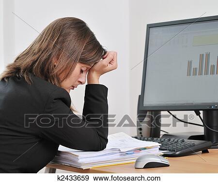 banque de photographies d prim et fatigu personne affaires dans travail k2433659. Black Bedroom Furniture Sets. Home Design Ideas