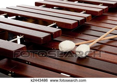 Stock Images of Marimba with mallets k2443486 - Search ...