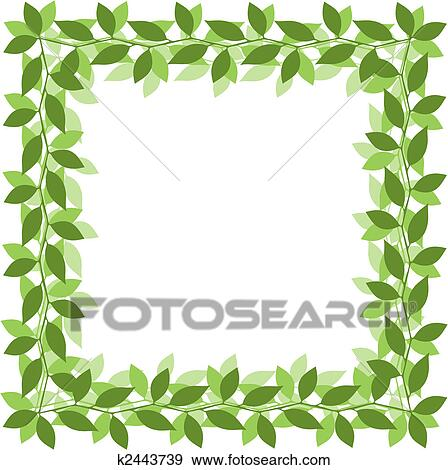 clip art of leaf border k2443739 search clipart illustration rh fotosearch com leaf border clip art free download holly leaf border clip art