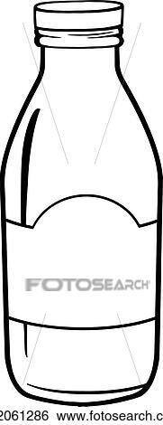 Käse clipart schwarz weiß  Clip Art - schwarz weiß, milchflasche k22061286 - Suche Clipart ...