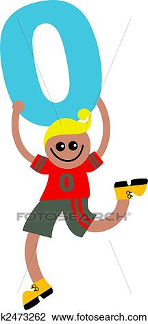 Clip Art of number zero kid k2473262 - Search Clipart ...