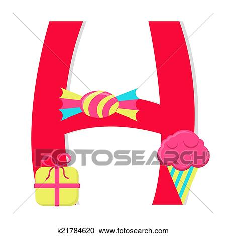 Clipart of letter h from candy alphabet k21784620 search clip clipart letter h from candy alphabet fotosearch search clip art thecheapjerseys