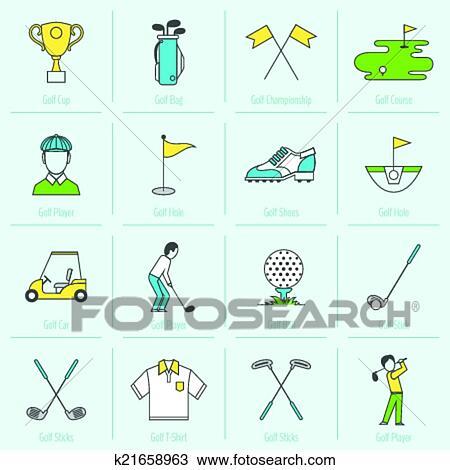 clipart golf ic nes ligne fixe k21658963 recherchez des clip arts des illustrations des. Black Bedroom Furniture Sets. Home Design Ideas