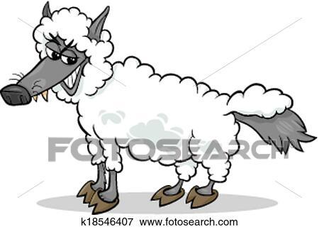 Clipart loup dans habillement mouton dessin anim - Mouton dessin anime ...