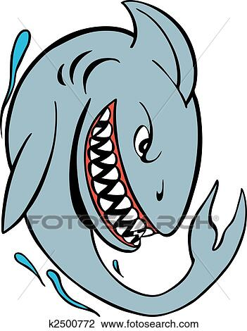 Angry shark clipart - photo#18