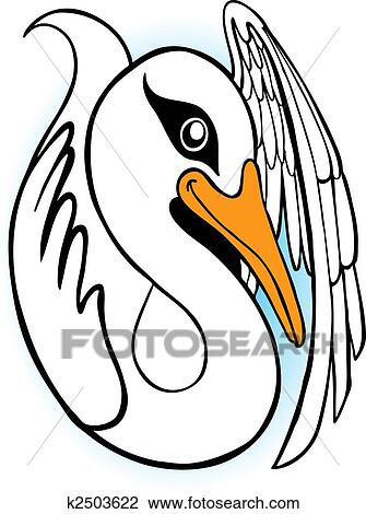 剪贴画 天鹅, 卡通漫画图片