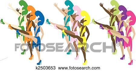 Las Vegas Showgirls Clip Art