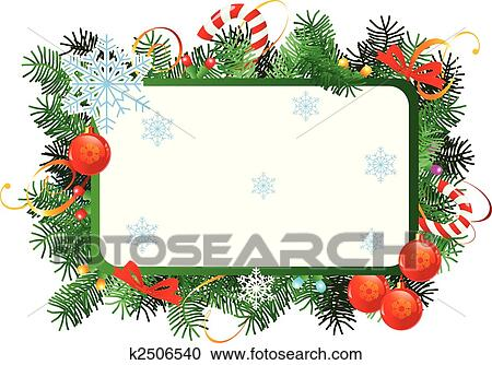 clipart weihnachten rahmen k2506540 suche clip art. Black Bedroom Furniture Sets. Home Design Ideas