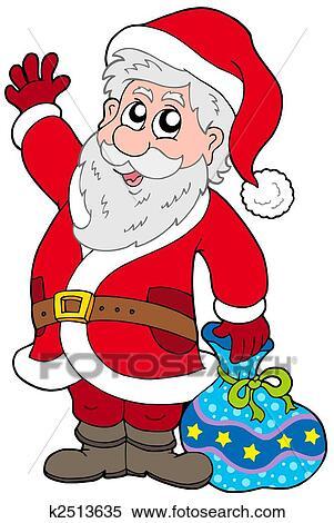 Stock illustration of cute santa claus with gifts k2513635 search cute santa claus with gifts isolated illustration negle Choice Image