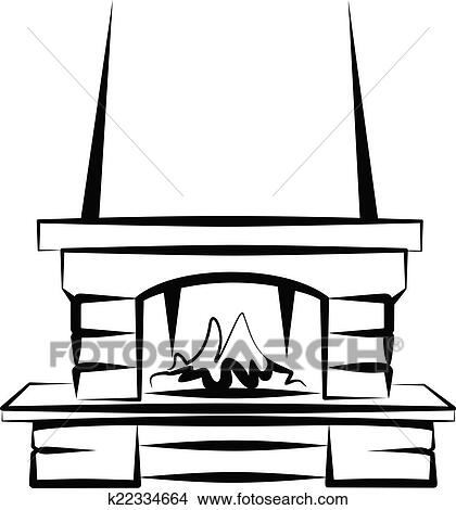 clipart of fireplace k22334664 search clip art illustration rh fotosearch com fireplace clipart pictures fireplace clipart black and white