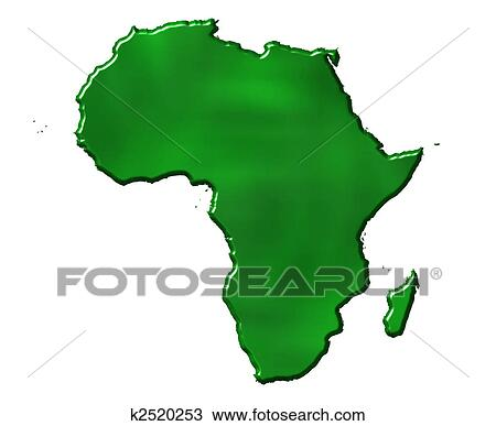 Drawing of 3D Ecological Africa Map k2520253 Search Clipart