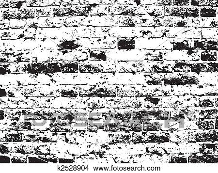 Drawings Of Grunge Brick Wall Background K2528904
