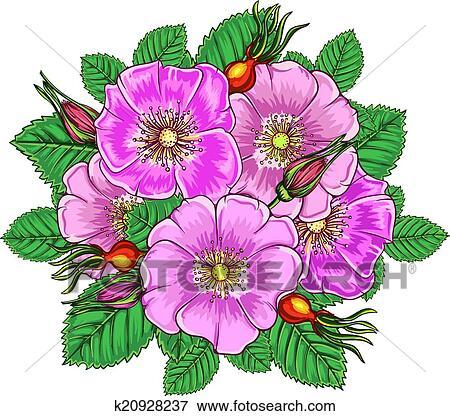 剪贴画 - 植物群, 背景;