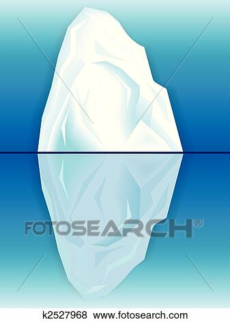 Clip Art of iceberg and its reflectio k2527968 - Search Clipart ...