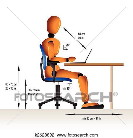Clipart of ergonomic sitting k2528892 search clip art illustration