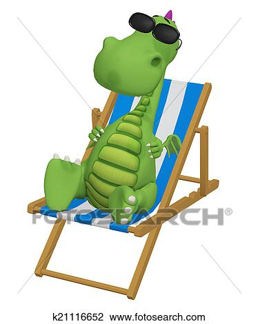 Clip art of 3d cartoon dragon relaxing in his beach chair clip art 3d cartoon dragon relaxing in his beach chair fotosearch search clipart voltagebd Gallery