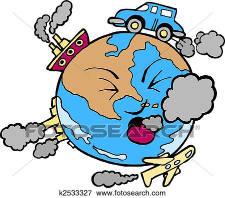 Clip Art of polluted earth k2533327 - Search Clipart ...