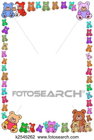 Clipart of border out of teddy bears k2545262 - Search ...
