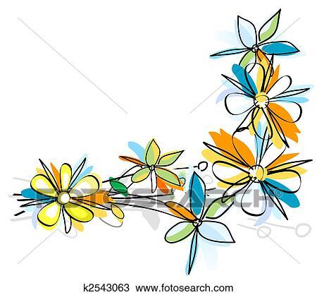 手绘图 - 花