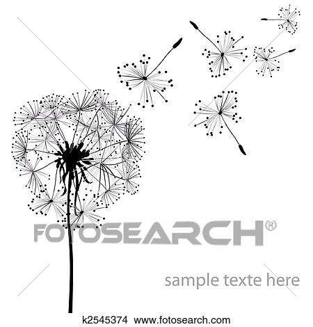 Clip Art Dandelion Clip Art drawings of dandelion x17350454 search clip art illustrations dandelions