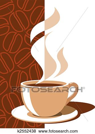 Clip Art Of Coffee Cup K2552438 Search Clipart