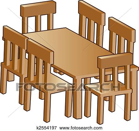 Clip Art   Dining Room Table. Fotosearch   Search Clipart, Illustration  Posters, Drawings