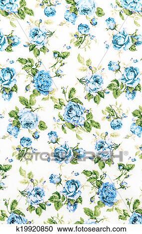 stock fotografie blau rosenbl te stoff hintergrund fragment von buntes fr her. Black Bedroom Furniture Sets. Home Design Ideas