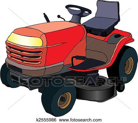 clip art rasenm her traktor k2555986 suche clipart. Black Bedroom Furniture Sets. Home Design Ideas