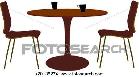 Stühle clipart  Clipart - tisch, und, stuhl, satz k20135274 - Suche Clip Art ...