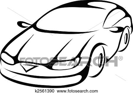 clipart stylis dessin anim voiture k2561390. Black Bedroom Furniture Sets. Home Design Ideas