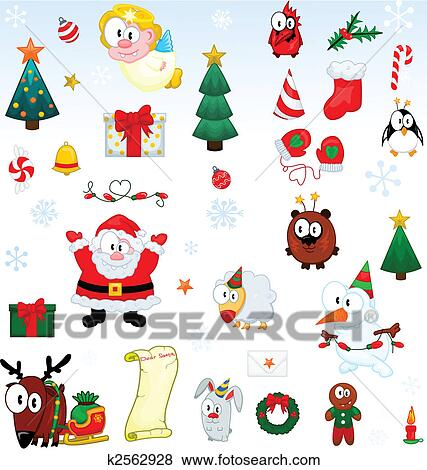 clip art weihnachten symbole sammlung k2562928 suche clipart poster illustrationen. Black Bedroom Furniture Sets. Home Design Ideas