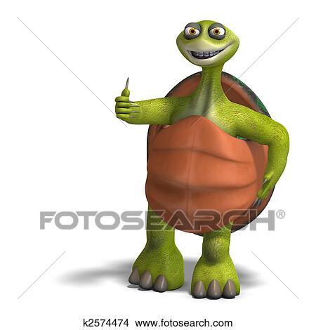 Dessins rigolote toon tortue appr cie vie k2574474 - Image tortue rigolote ...