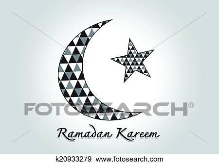 Clip Art Of Ramadan Kareem Colorful Moon And Star For Holy Month