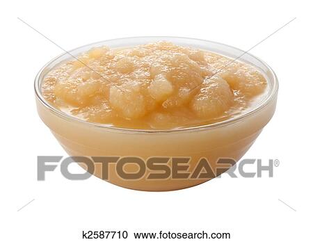 stock photography of applesauce in a glass bowl k2587710 search rh fotosearch com Apple Pie Clip Art Snack Clip Art