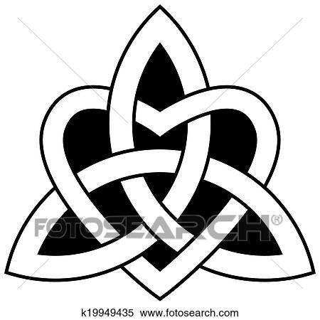 Clipart of Celtic heart knot - vector symbols k13738683 - Search ...