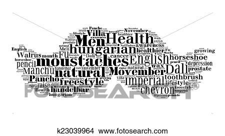 dibujo moustaches formado palabra nube hecho de nombres para moustaches styles movember apoyo para salud hombres en