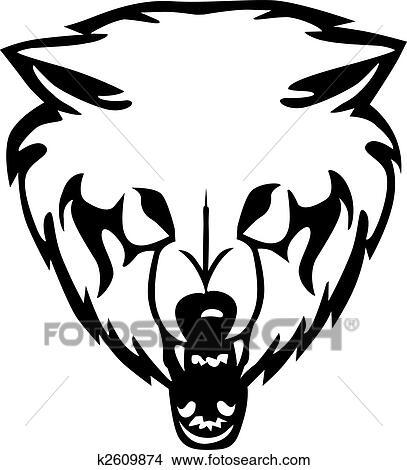 clipart hoofd van een wolf vector illustratie k2609874 zoek clipart illustratie fresno 39 s. Black Bedroom Furniture Sets. Home Design Ideas