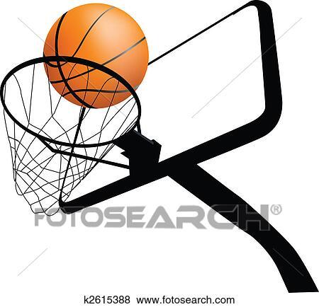 Basketball ring drawing