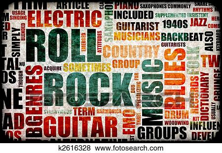 Rock and Roll Music Clip Art
