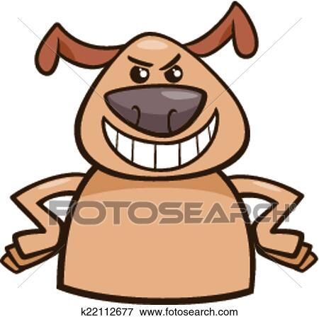 Clip Art of mood cruel dog cartoon illustration k22112677 - Search ...