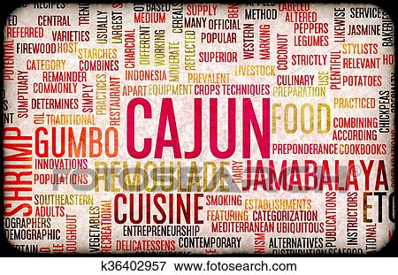 Stock Illustration Of Cajun Food Menu K36402957 Search