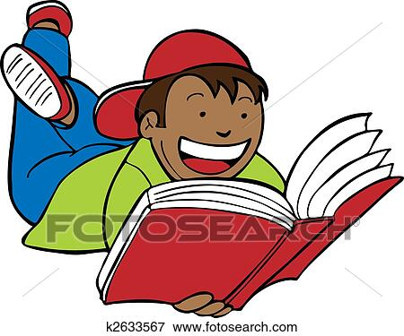 clip art of child reading book art k2633567 search clipart rh fotosearch com boy reading newspaper clipart boy reading quran clipart