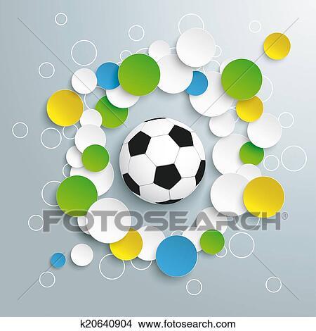 手绘图 - 足球, 巴西, 颜色图片
