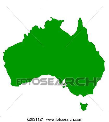clipart of outline map of australia and tasmania k2631121 search rh fotosearch com australia clip art free australia clip art free