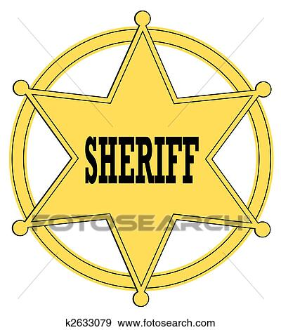 Clip Art Sheriff Badge Clipart sheriff badge clipart and stock illustrations 446 gold star from the old west