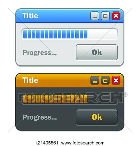 Clipart couleur informatique fenetres ensemble for Fenetre informatique
