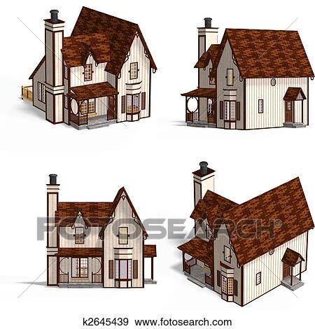 Archivio illustrazioni medievale case cottage k2645439 for Disegni casa cottage