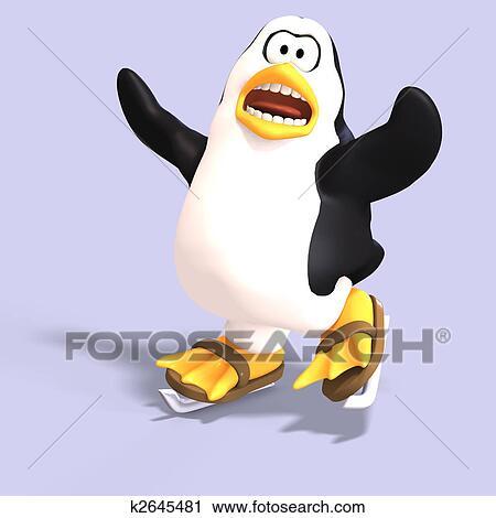 剪贴画 男性, toon, 企鹅