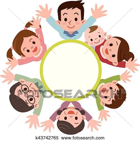 clipart of three generations of family members look up k43742765 rh fotosearch com  family members clipart